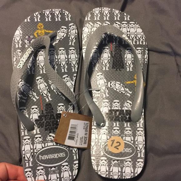 6813305f7 Star Wars Havaianas Flip Flop Sandals men s 11 12